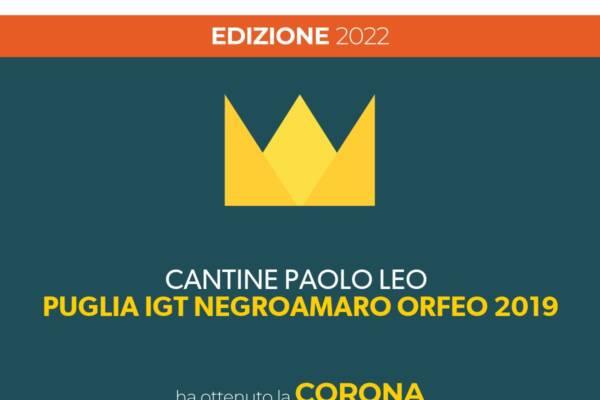 Orfeo 2019 consegue la Corona dei Vinibuoni d'Italia di Touring Club